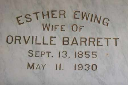 EWING BARRETT, ESTHER EVANGELINE - Hancock County, Illinois | ESTHER EVANGELINE EWING BARRETT - Illinois Gravestone Photos