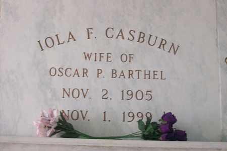 CASBURN BARTHEL, IOLA F. - Hancock County, Illinois | IOLA F. CASBURN BARTHEL - Illinois Gravestone Photos