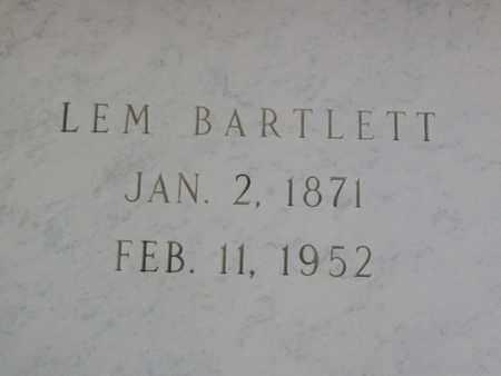 BARTLETT, LEMUEL - Hancock County, Illinois | LEMUEL BARTLETT - Illinois Gravestone Photos