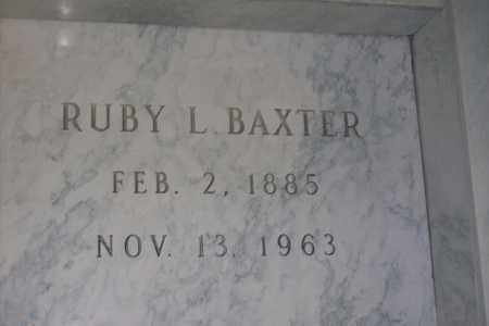 HARTER BAXTER, RUBY LAURA - Hancock County, Illinois | RUBY LAURA HARTER BAXTER - Illinois Gravestone Photos