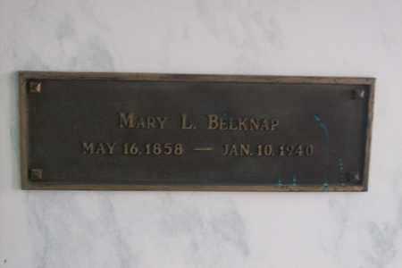BELKNAP, MARY LETITIA - Hancock County, Illinois | MARY LETITIA BELKNAP - Illinois Gravestone Photos