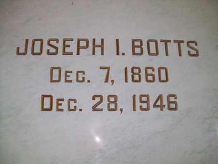 BOTTS, JOSEPH IVERSON - Hancock County, Illinois | JOSEPH IVERSON BOTTS - Illinois Gravestone Photos