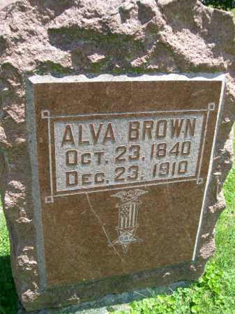 BROWN, ALVA - Hancock County, Illinois | ALVA BROWN - Illinois Gravestone Photos