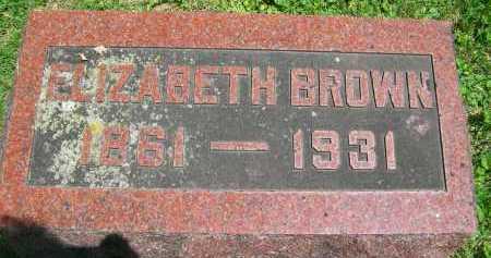 BROWN, ELIZABETH - Hancock County, Illinois | ELIZABETH BROWN - Illinois Gravestone Photos