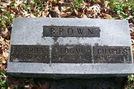 BROWN, EDGAR CHARLES - Hancock County, Illinois   EDGAR CHARLES BROWN - Illinois Gravestone Photos