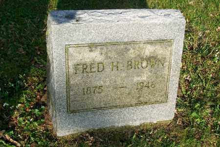 BROWN, FRED H. - Hancock County, Illinois | FRED H. BROWN - Illinois Gravestone Photos