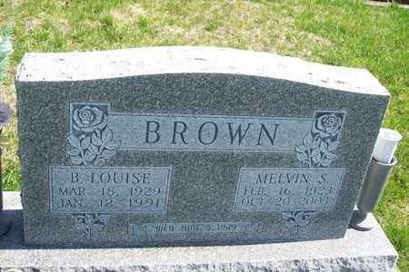 BROWN, MELVIN S. - Hancock County, Illinois | MELVIN S. BROWN - Illinois Gravestone Photos