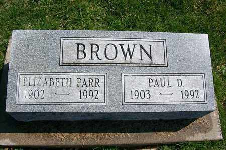 BROWN, PAUL D. - Hancock County, Illinois | PAUL D. BROWN - Illinois Gravestone Photos