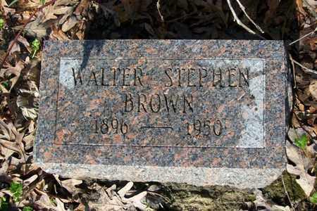 BROWN, WALTER STEPHEN - Hancock County, Illinois | WALTER STEPHEN BROWN - Illinois Gravestone Photos