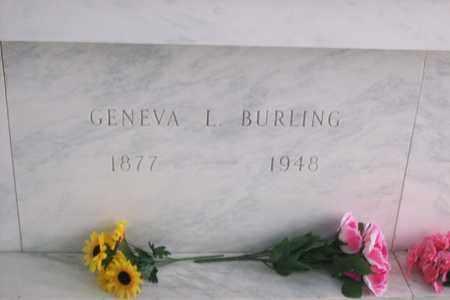 BURLING, GENEVA LUELLA - Hancock County, Illinois | GENEVA LUELLA BURLING - Illinois Gravestone Photos