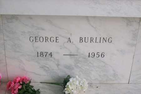 BURLING, GEORGE AMBROSE - Hancock County, Illinois | GEORGE AMBROSE BURLING - Illinois Gravestone Photos
