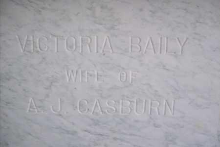 BAILY CASBURN, VICTORIA - Hancock County, Illinois | VICTORIA BAILY CASBURN - Illinois Gravestone Photos