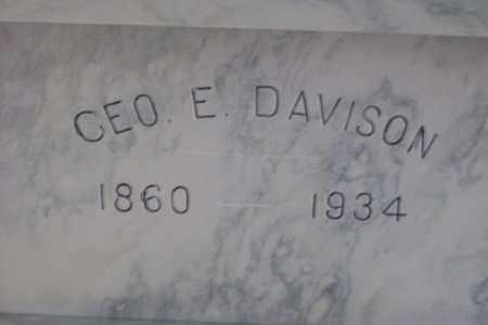 DAVISON, GEORGE EDWARD - Hancock County, Illinois | GEORGE EDWARD DAVISON - Illinois Gravestone Photos