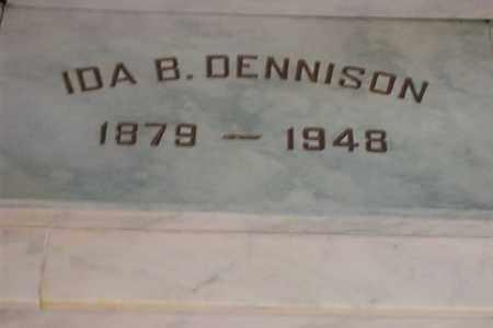 DENNISON, IDA B. - Hancock County, Illinois | IDA B. DENNISON - Illinois Gravestone Photos