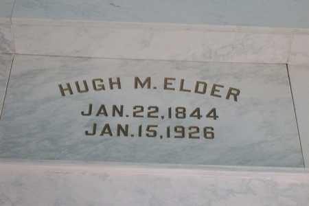 ELDER, HUGH MARTIN - Hancock County, Illinois | HUGH MARTIN ELDER - Illinois Gravestone Photos