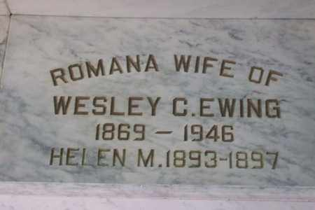 MILLER EWING, ROMANA - Hancock County, Illinois | ROMANA MILLER EWING - Illinois Gravestone Photos