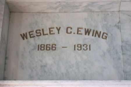EWING, WESLEY C. - Hancock County, Illinois | WESLEY C. EWING - Illinois Gravestone Photos