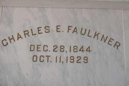 FAULKNER, CHARLES EDGAR - Hancock County, Illinois | CHARLES EDGAR FAULKNER - Illinois Gravestone Photos
