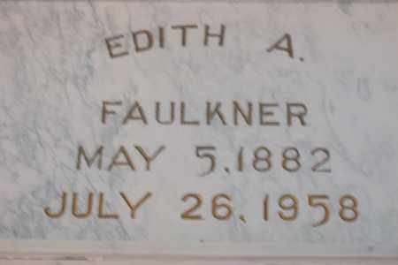FAULKNER, EDITH AMY - Hancock County, Illinois | EDITH AMY FAULKNER - Illinois Gravestone Photos
