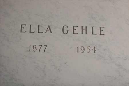 GEHLE, ELLA - Hancock County, Illinois | ELLA GEHLE - Illinois Gravestone Photos