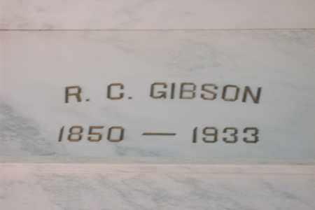 GIBSON, ROBERT CROMWELL - Hancock County, Illinois   ROBERT CROMWELL GIBSON - Illinois Gravestone Photos