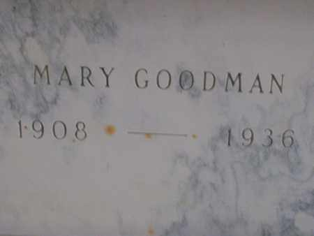 GOODMAN, MARY - Hancock County, Illinois | MARY GOODMAN - Illinois Gravestone Photos