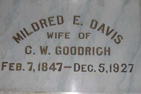 GOODRICH, MILDRED E. - Hancock County, Illinois | MILDRED E. GOODRICH - Illinois Gravestone Photos