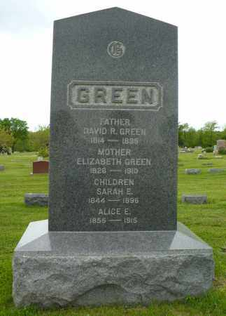 GREEN, ELIZABETH - Hancock County, Illinois | ELIZABETH GREEN - Illinois Gravestone Photos