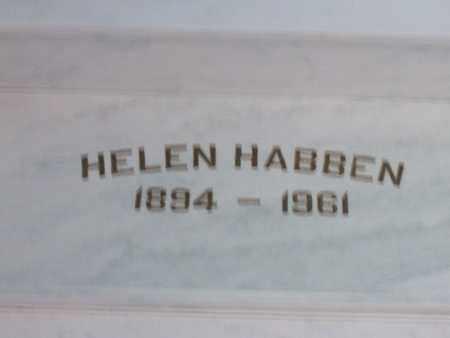 HABBEN, HELEN K. - Hancock County, Illinois | HELEN K. HABBEN - Illinois Gravestone Photos