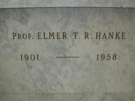 HANKE, ELMER T. R. - Hancock County, Illinois | ELMER T. R. HANKE - Illinois Gravestone Photos