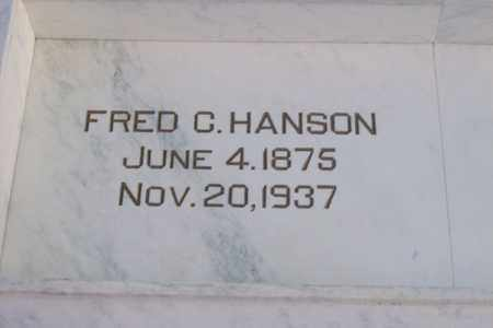 HANSON, FRED C. - Hancock County, Illinois | FRED C. HANSON - Illinois Gravestone Photos