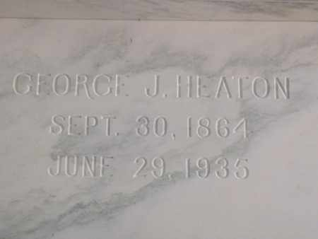 HEATON, GEORGE JONAS - Hancock County, Illinois | GEORGE JONAS HEATON - Illinois Gravestone Photos