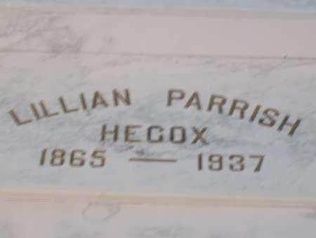 PARRISH HECOX, LILLIAN - Hancock County, Illinois | LILLIAN PARRISH HECOX - Illinois Gravestone Photos