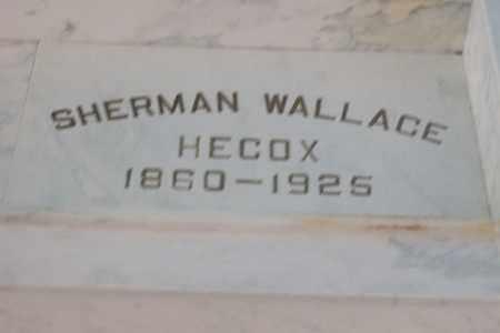 HECOX, SHERMAN WALLACE - Hancock County, Illinois | SHERMAN WALLACE HECOX - Illinois Gravestone Photos