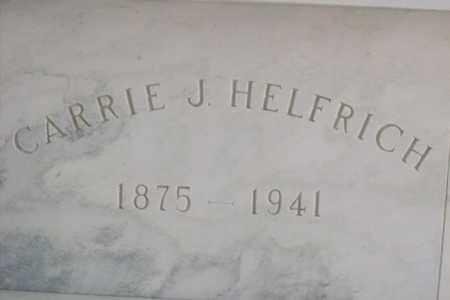 JOHNSON HELFRICH, CARRIE - Hancock County, Illinois   CARRIE JOHNSON HELFRICH - Illinois Gravestone Photos