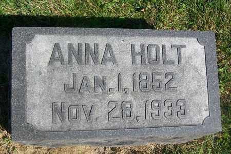 WILLIAMS HOLT, ANNA - Hancock County, Illinois   ANNA WILLIAMS HOLT - Illinois Gravestone Photos