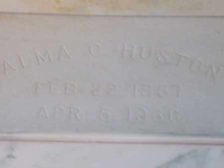 HUSTON, ALMA C. - Hancock County, Illinois | ALMA C. HUSTON - Illinois Gravestone Photos