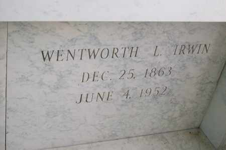 IRWIN, DR. WENTWORTH LEE - Hancock County, Illinois | DR. WENTWORTH LEE IRWIN - Illinois Gravestone Photos