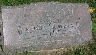 JACKSON, BLUFORD WENTWORTH - Hancock County, Illinois | BLUFORD WENTWORTH JACKSON - Illinois Gravestone Photos