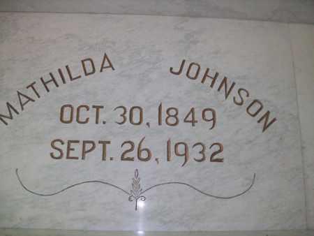 ZACKSISON JOHNSON, MATHILDA - Hancock County, Illinois | MATHILDA ZACKSISON JOHNSON - Illinois Gravestone Photos