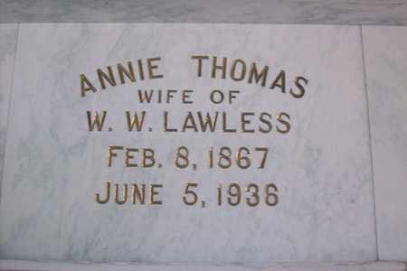 LAWLESS, MARY ANNIE - Hancock County, Illinois | MARY ANNIE LAWLESS - Illinois Gravestone Photos
