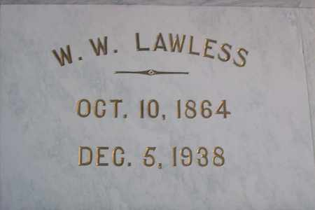 LAWLESS, WILLIAM WILBER - Hancock County, Illinois | WILLIAM WILBER LAWLESS - Illinois Gravestone Photos
