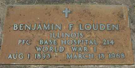 LOUDEN, BENJAMIN FRANKLIN - Hancock County, Illinois | BENJAMIN FRANKLIN LOUDEN - Illinois Gravestone Photos