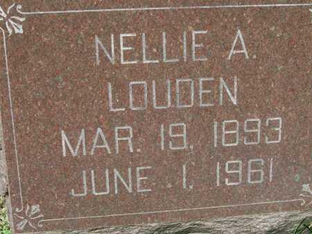 LOUDEN, NELLIE A. - Hancock County, Illinois | NELLIE A. LOUDEN - Illinois Gravestone Photos