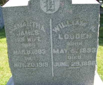 LOUDEN, SAMANTHA - Hancock County, Illinois | SAMANTHA LOUDEN - Illinois Gravestone Photos
