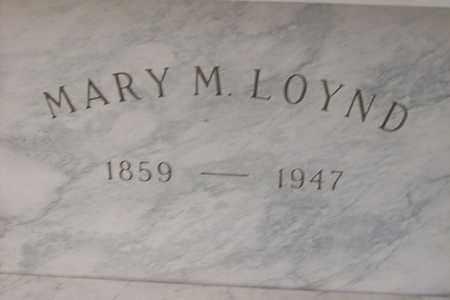 LOYND, MARY M - Hancock County, Illinois | MARY M LOYND - Illinois Gravestone Photos