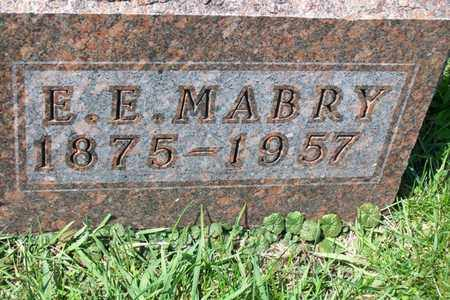 MABRY, ELBERT EVERETT - Hancock County, Illinois | ELBERT EVERETT MABRY - Illinois Gravestone Photos