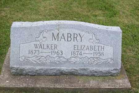 MABRY, JOSEPH WALKER - Hancock County, Illinois | JOSEPH WALKER MABRY - Illinois Gravestone Photos
