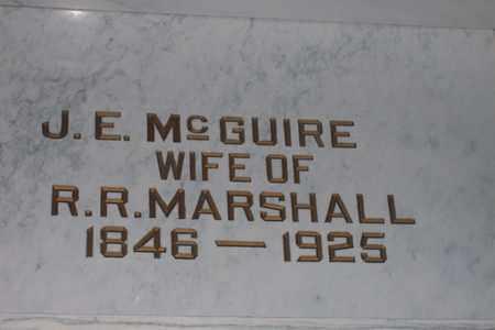 MCGUIRE MARSHALL, JENNIE E. - Hancock County, Illinois   JENNIE E. MCGUIRE MARSHALL - Illinois Gravestone Photos