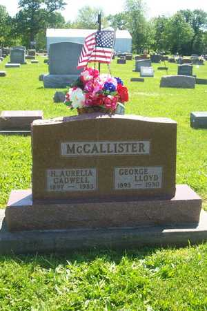 MCCALLISTER, GEORGE LLOYD - Hancock County, Illinois | GEORGE LLOYD MCCALLISTER - Illinois Gravestone Photos